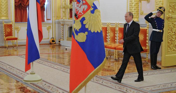 Président russe Vladimir Poutine au Kremlin