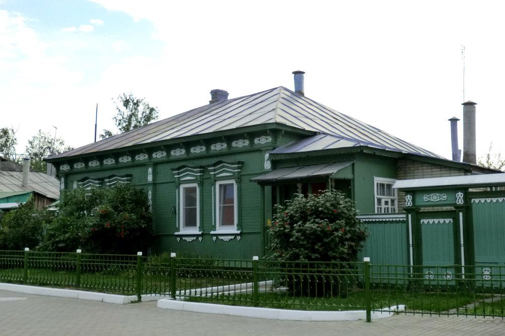 Maison en bois sur le territoire du kremlin de Kolomna