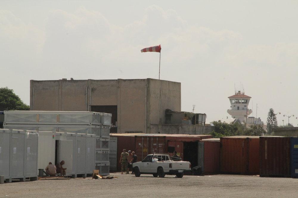 Armée russe sur la base de Hmeymim en Syrie