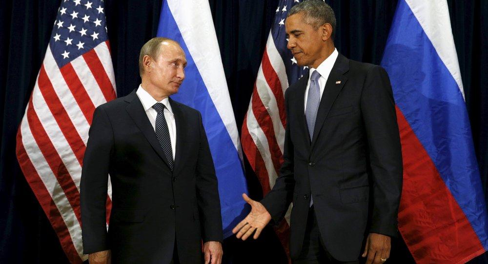 Barack Obama et Vladimir Poutine à New York, le 28 septembre 2015