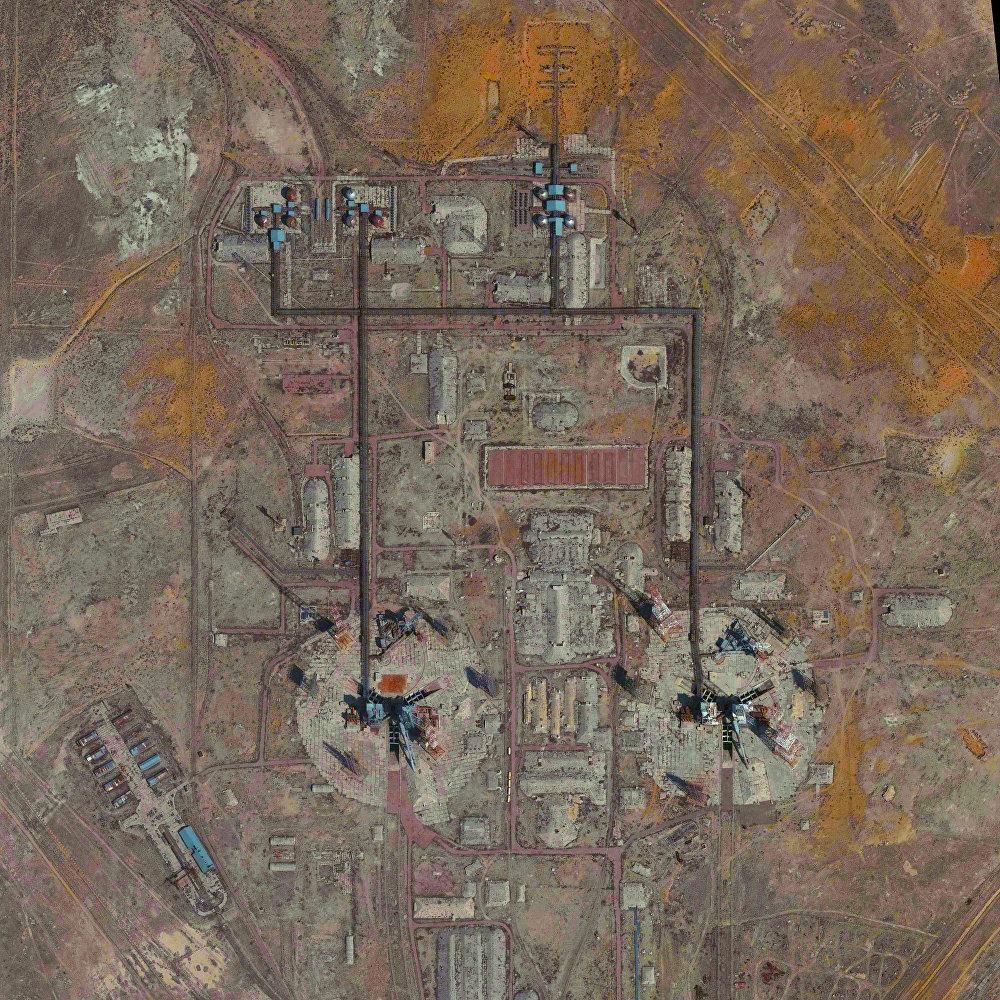 Le cosmodrome de Baïkonour au Kazakhstan