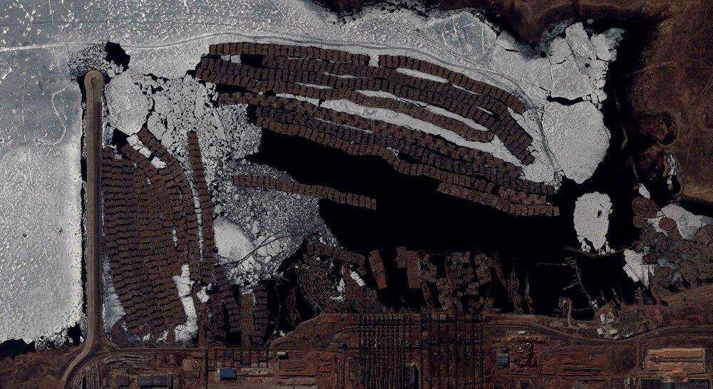 L'usine de cellulose et de papier de Bratsk, Sibérie orientale