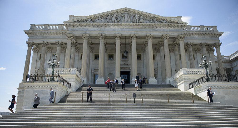 Les membres du Congrès après une série de votes,Capitol Hill