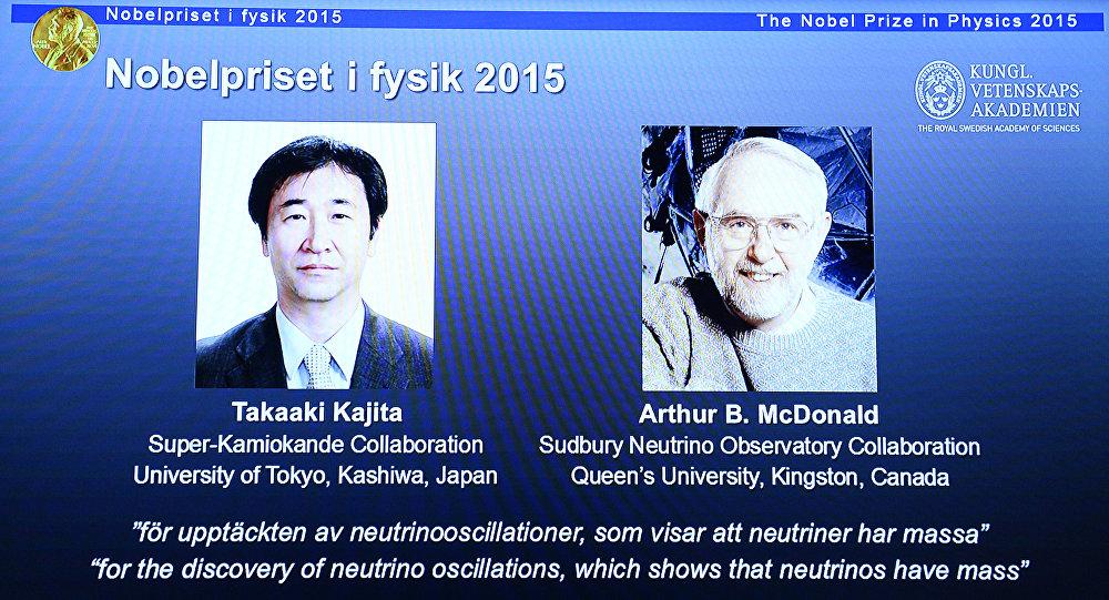 Takaaki Kajita (Japon) et Arthur B. McDonald (Canada)