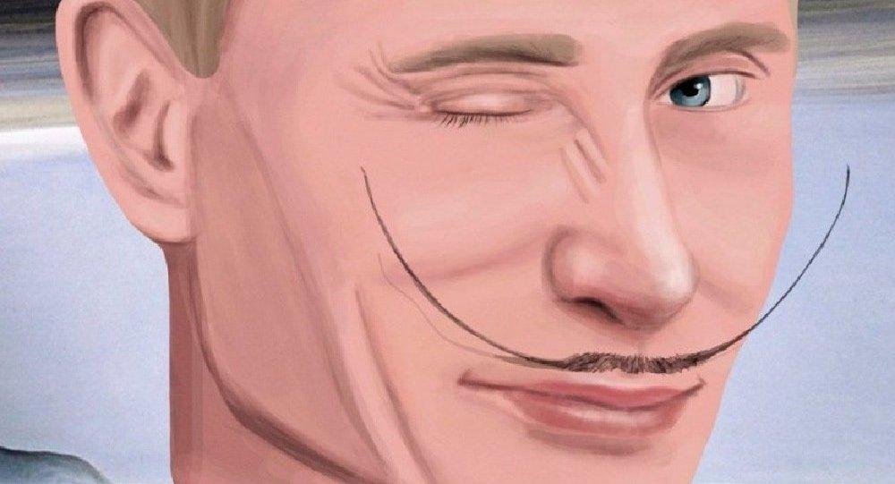 Exposition à Moscou consacrée au 63e anniversaire de Vladimir Poutine (représenté sur l'image)
