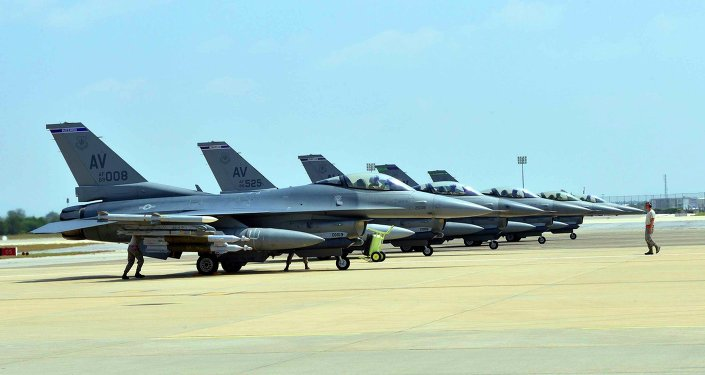 US Air Force F-16 Fighting Falcons
