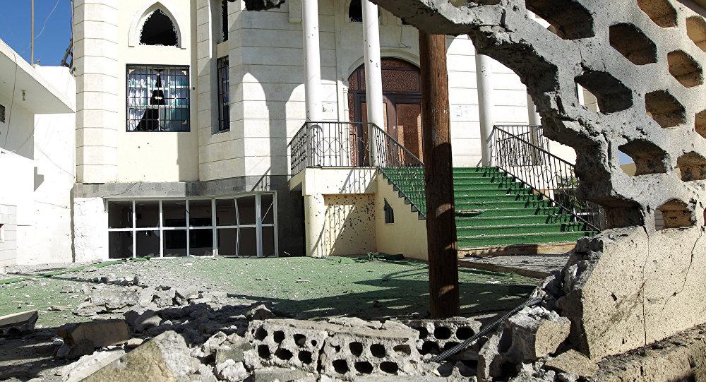 la mosquée Al-Nour après frappes, Sanaa