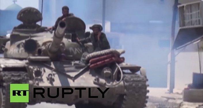 Vaste offensive au sol des troupes de Bachar el-Assad