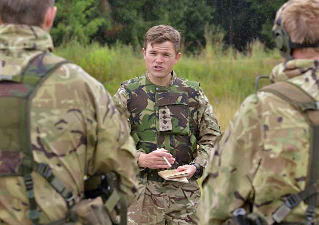 Des soldats de l'armée UK lors des entraînements