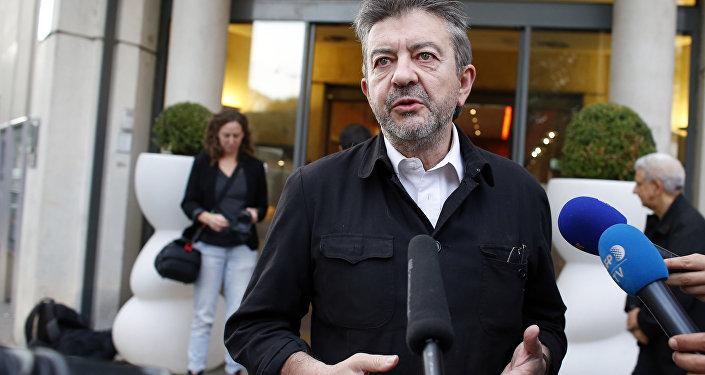 Le responsable du Parti de gauche Jean-Luc Mélenchon