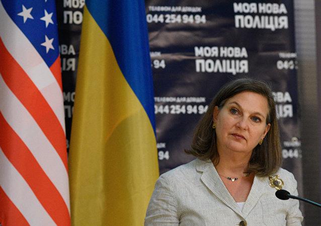 La sous-secrétaire d'Etat américaine Victoria Nuland à Kiev. Archive photo