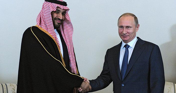 le prince Mohammed Ben Salmane et le président russe Vladimir Poutine