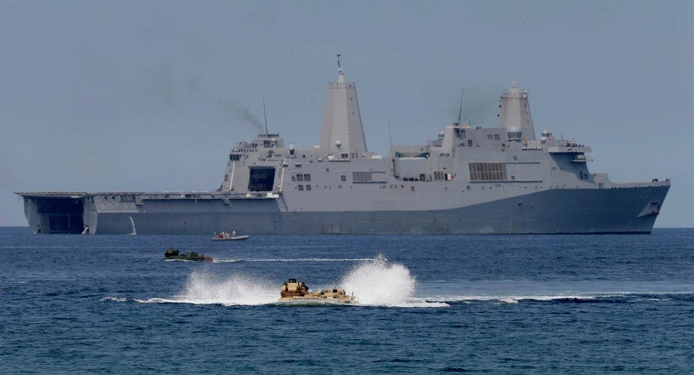 US navire militaire en mer de Chine
