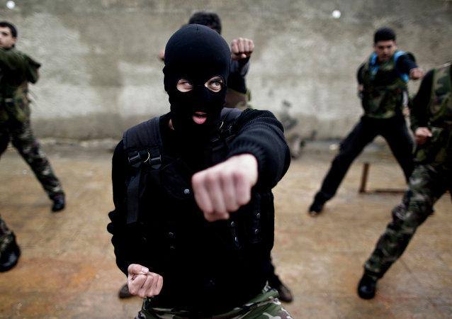 Entraînement de rebelles syriens modérés