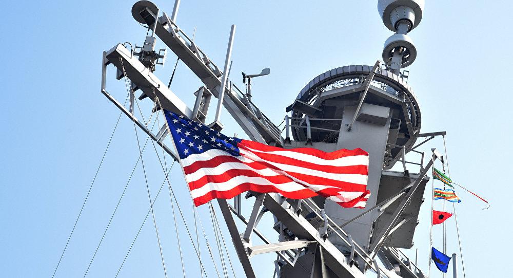 Un destroyer US  dans le port d'Odessa