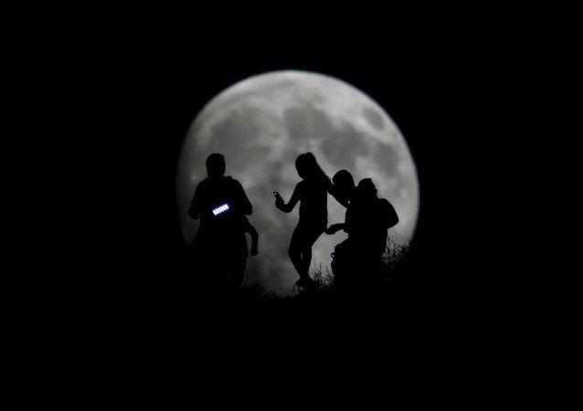 Super lune au Mexique
