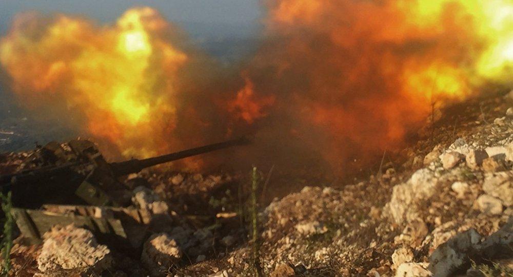 Positions de l'armée syrienne près de Aramu
