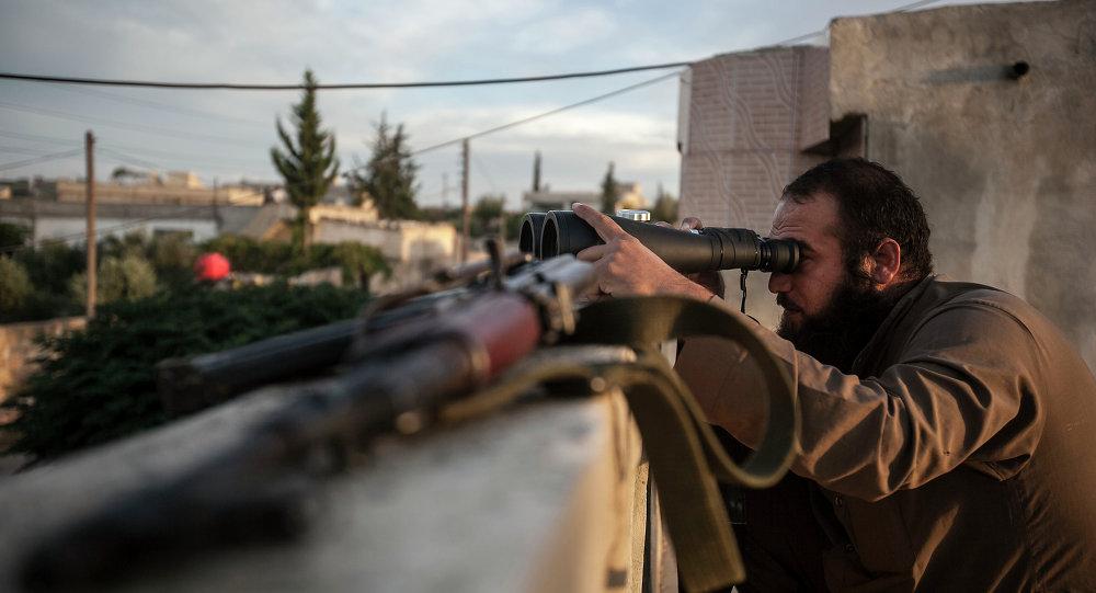 Combattant de l'opposition syrienne. Archive photo