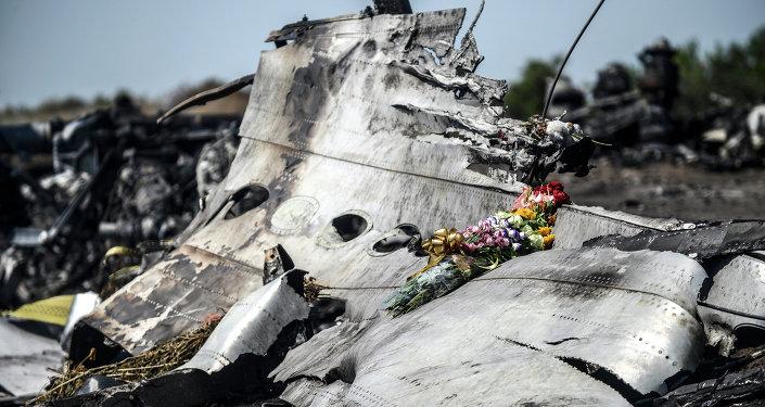 Fragment du Boeing abattu en Ukraine