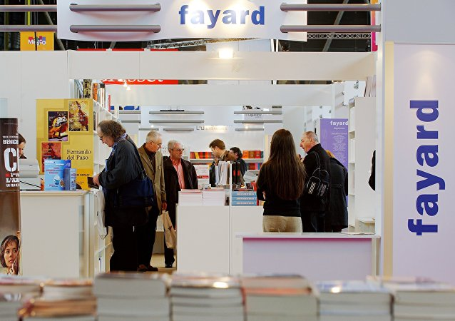 La maison d'édition française Fayard, Book Fair, Paris. Archive photo