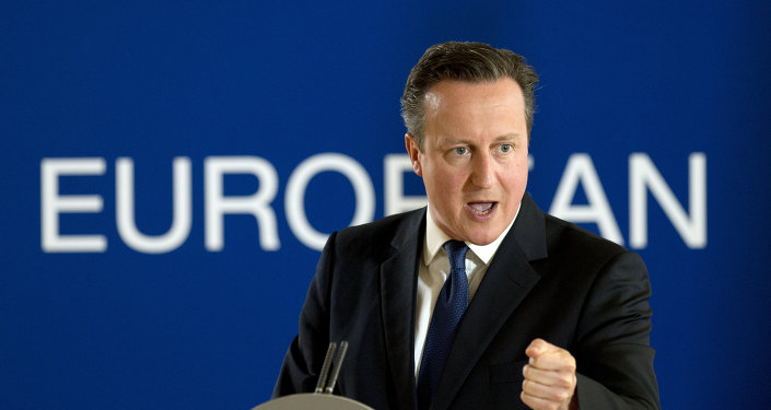 British prime minister David Cameron speaks during a press conference, on the second and final day of an EU summit at the EU Headquarters in Brussels on June 26, 2015