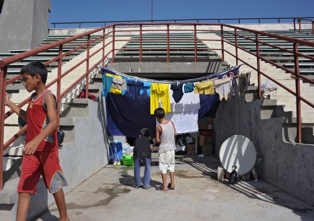 Un camp de réfugiés à Lattaquié