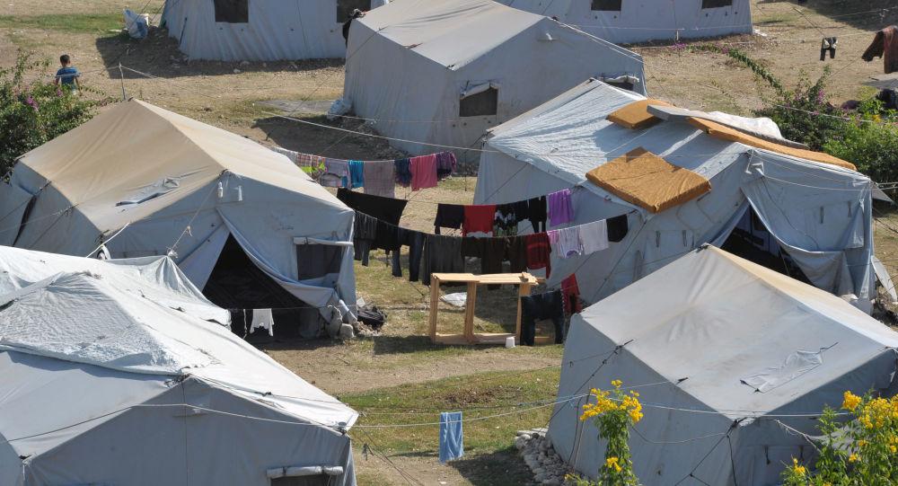 Camp de réfugiés à Lattaquié