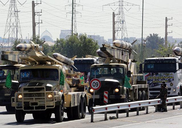 Les camions avec des missiles iraniens