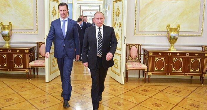 Le président syrien Bachar Al-Assad et le président russe Vladimir Poutine, Kremlin