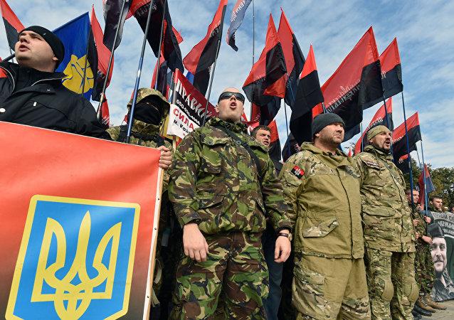Ukraine: les nationalistes manifestent dans la capitale