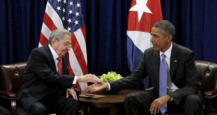 Raúl Castro et Barack Obama