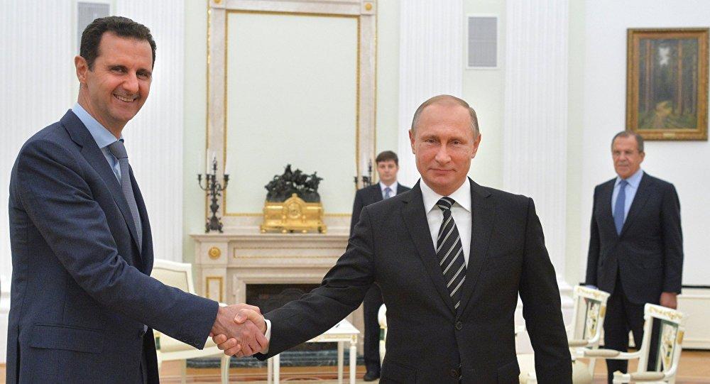 Bachar el-Assad et Vladimir Poutine au Kremlin