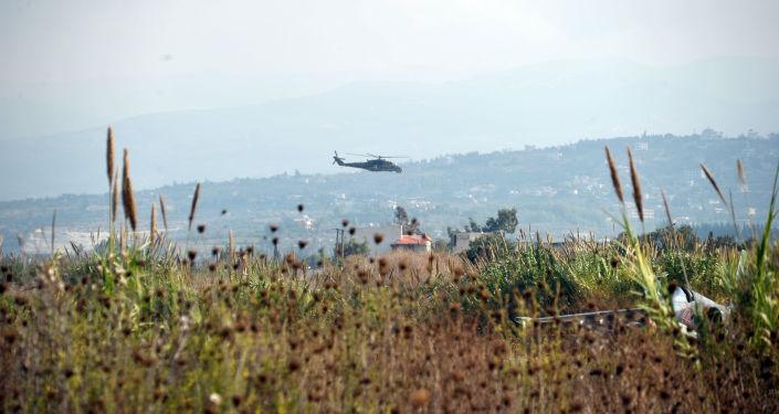 Un hélicoptère russe à la base aérienne Hmeymim dans la province syrienne de Lattaquié. Photo d'archive