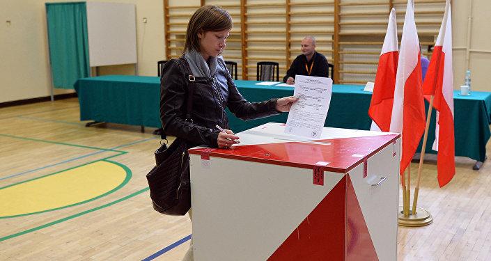 bureau de vote, Pologne