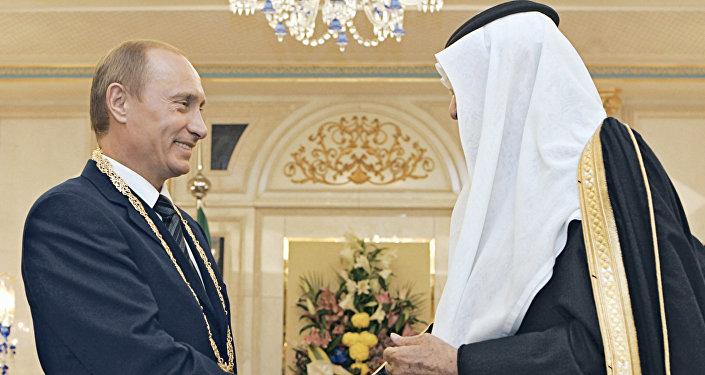 Vladimir Poutine et le roi d'Arabie saoudite (archive)