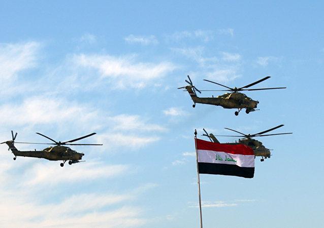Hélicoptères militaires irakiens. Archive photo