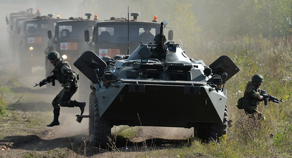 des exercices militaires, Russie