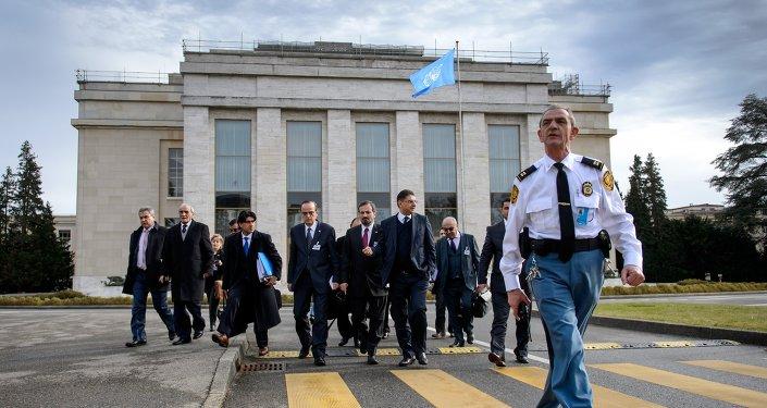 Délégation d'opposition syriens à Genève. Archive photo