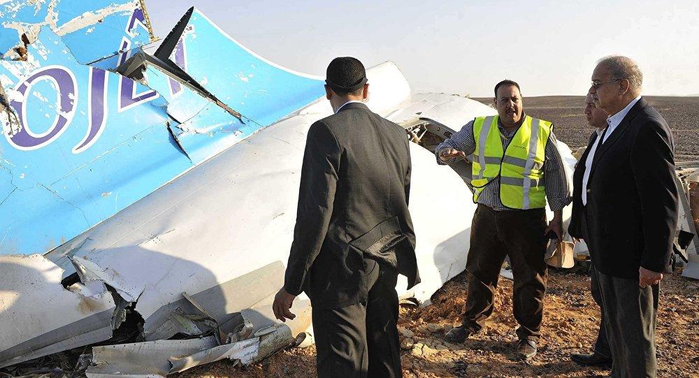Les débris d'un Airbus A321 de Metrojet au Sinaï