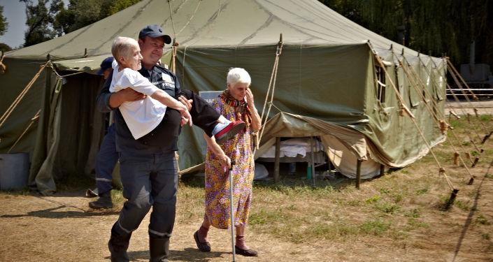 Réfugiés dans la région de Lougansk