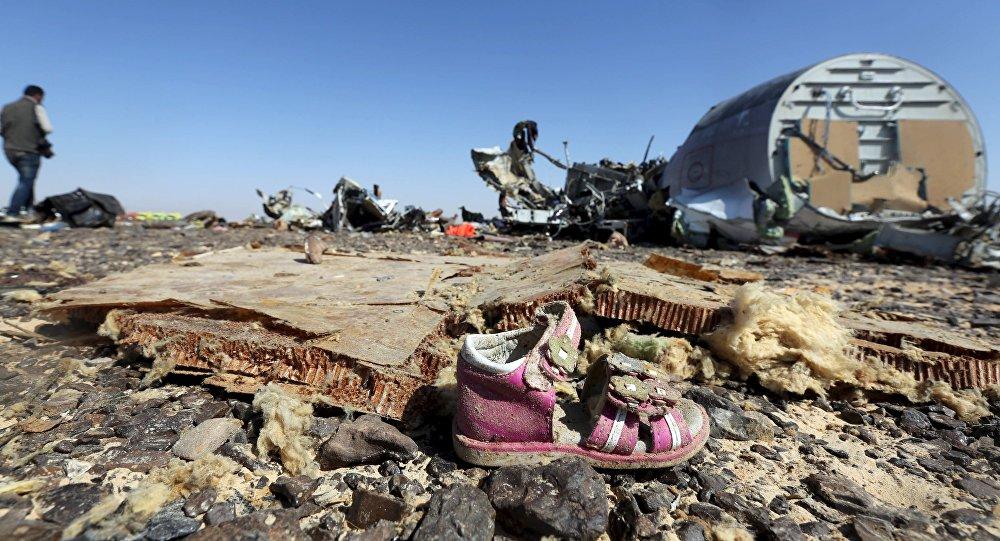 Les débris de l'Airbus A321 en Egypte