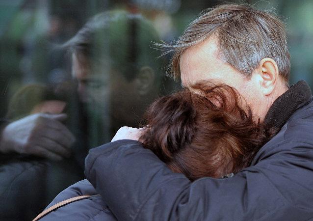 Les proches des victimes de la catastrophe aérienne A-321
