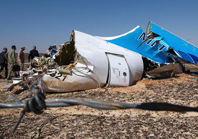 Airbus A-321 qui s'est écrasé en Egypte le 31 octobre 2015