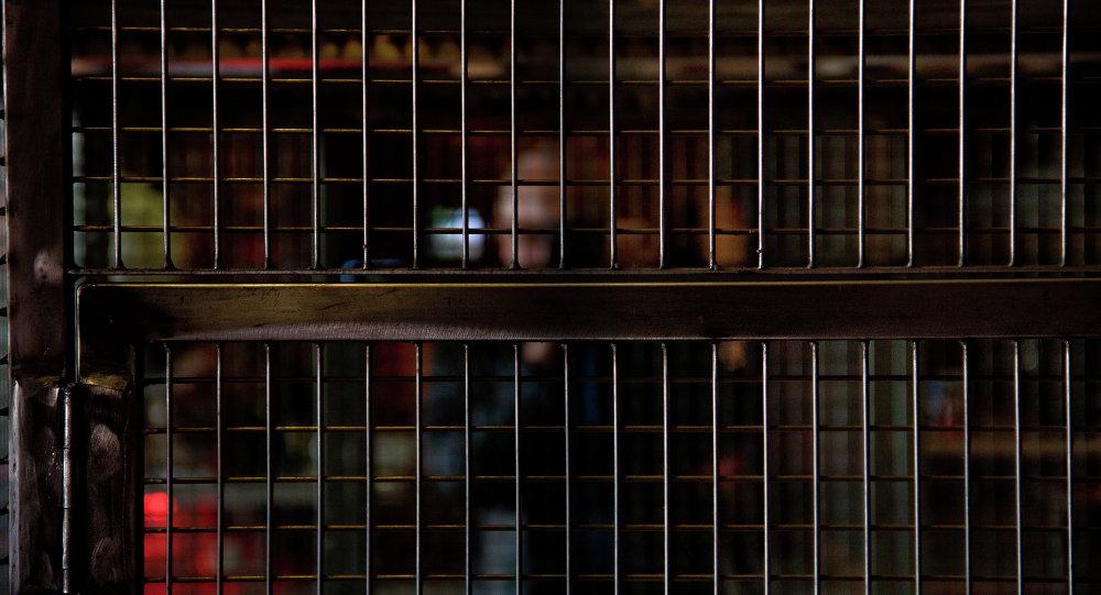 Dans une cage