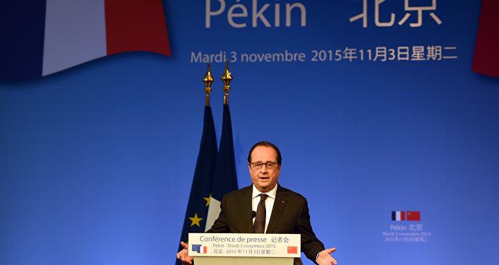 François Hollande à Pékin