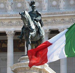 Drapeau de l'Italie à Rome