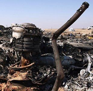 Le lieu du crash de l'Airbus A321 russe en Egypte