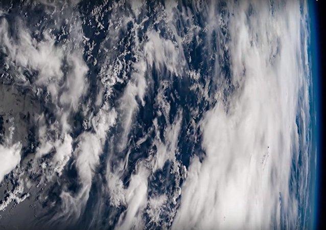 Vue d'un typhon de l'espace