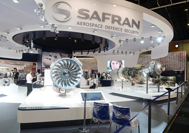 Stand du groupe Safran au Salon du Bourget 2015 (archives)