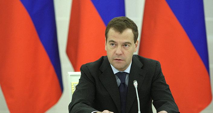 Le président russe Dmitri Medvedev